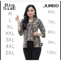 Blouse Batik Super Jumbo Bigsize Baju Atasan Wanita Big Size jUMBO - ASMADT, M