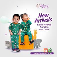 Paket Piyama Kancing Bayi Unisex Safari Edition 0-18bulan