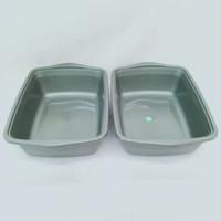 Baskom Plastik segi Medium persegi Bak pasir kucing cat litter box 076