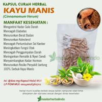 Kapsul Herbal KAYU MANIS Antioksidan Alzheimer Kolesterol 100 capsul