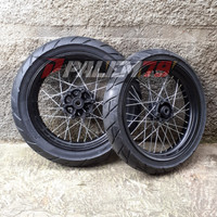 Wheelset WR 155 Supermoto Banset 110 140 Wr155 Paket Ban Velg 300 350