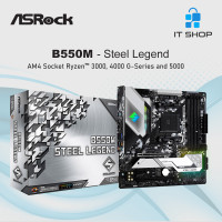 Motherboard Asrock B550M Steel Legend - AMD AM4