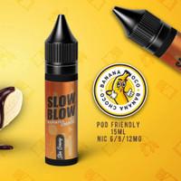 Liquid Slow Blow Slim Banana Choco Pods Friendly Not Salt 15ML