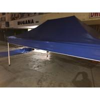 atap tenda lipat 4,5 x 3 bahan uno 410gsm