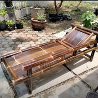 Kursi bambu hitam santai bale sofa panjang Free ongkir Bayar ditempat