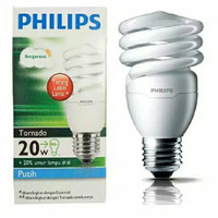 LAMPU LED PHILIPS TORNADO E27 220-240V WARM WHITE / WARNA KUNING - 20W