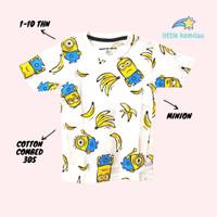 Kaos Baju Anak Karakter Hei Minion Fullprint PREMIUM Cotton Combed 30s