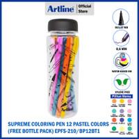 PULPEN ARTLINE SUPREME PASTEL COLOURING PEN BOTTLE SET EPFS-210/BP12BT