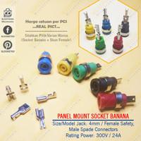 Binding Post Safety 4mm Banana Socket Panel + Spade Lug Female Skun