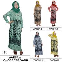 Pakaian Muslim Santai, Longdres Batik, Kancing, Bumil (LPT001-110)