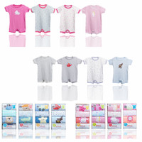 Romper Bayi Perempuan atau Laki Laki Import 4in1 / Baju Bayi Newborn