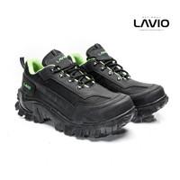 Sepatu Safety Boot Pendek Pria Tahan Bentur Banting Baru Lavio Coven - Busa Hijau, 39