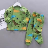 Setelan baju piyama anak laki laki umur 0-4 tahun import original