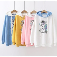 Outer Unicorn Sweater Hoodie Anak Remaja | Baju Atasan Anak Perempuan