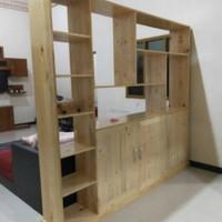 lemari kabinet drawer partisi pembatas Ruangan kayu jati belanda