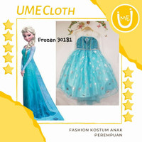 Fashion Kostum Princess Anak Perempuan Dress Karakter Frozen Elsa - 1