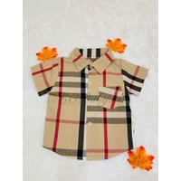 [9 Bulan - 7 Tahun] Baju Kemeja Jalan Anak Coklat Garis EOBaby D04