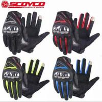 Sarung Tangan Scoyco MC44 Full Finger Touch Screen gloves MC 44
