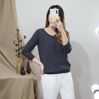 Atasan Baju Casual Wanita Premium - Mirae Knit Sweater NWclothing - Dark Grey
