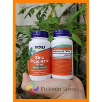 Now Foods Zinc Picolinate 50 mg 120 Veg Capsules Ori USA Imun Puritan