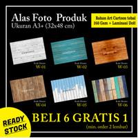 Background Alas Foto Produk A3+ Motif Kayu (W 01-06)