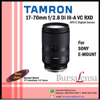 TAMRON 17-70mm f/2.8 Di III-A VC RXD for Sony E-mount APS-C