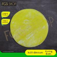 kulit dimsum kulit pangsit kulit gyoza kuning 8cm enak lezat halal