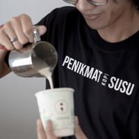 Kaos Kopi Penikmat Susu T-shirt Barista