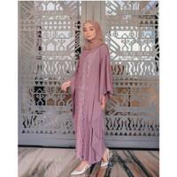 Baju Gamis Syari Wanita Jumbo Ceruty Set Hijab Khimar Dress Muslim Ori