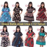 Baju Batik Anak Perempuan Umur 2 - 10 Tahun Termurah | Dress Anak Cewe
