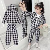 baju stelan jaket anak perempuan 6 7 8 thn keren kekinian style korea
