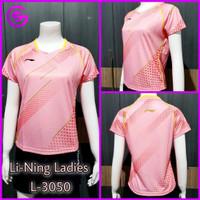 Baju Kaos Badminton Wanita (Ladies) Olahraga Lining Kode 3050 B