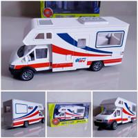 Diecast Mobil Ambulance Model Van Bahan Metal Alloy Miniatur Ambulans