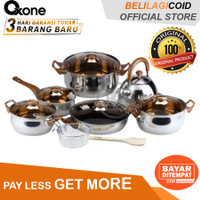 Oxone Cookware Set Panci Stainless Steel OX 933