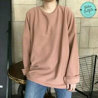 Loose Oversize Kaos Wanita Murah | Baju Kaos Jumbo Lengan Panjang