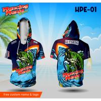 Jersey mancing mania baju hoodie kantong kaos fishing - XS