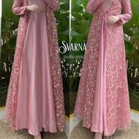 busana muslim wanita baju gamis warna pink