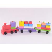 Distributor Mainan Kayu Edukatif / Balok Kereta Kayu