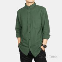 Kemeja Pria Lengan Panjang Original Brand Cloud Think Cotton Pique