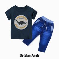 Setelan pakaian anak laki-laki, kaos apato dan celana panjang giva
