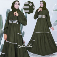 Gamis Wanita Dewasa Gaun Pesta Kondangan Muslimah Mewah Terbaru 2021 - Biru turkis