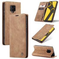 Redmi note 9 pro Flip Case Caseme Cover Leather Wallet sarung - Hitam