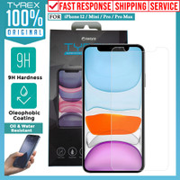 Tempered Glass Anti Gores iPhone 12 Pro Max 12 Mini Tyrex Clear Glass