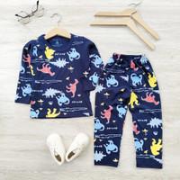 Set Piyama Anak Full Print Laki Laki Perempuan/Baju Tidur 1-6tahun