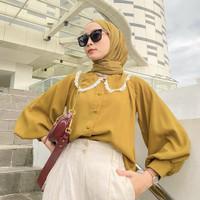 Baju Atasan Wanita Terbaru Versace Tunic Baju Tunik Hijab Syari Loreng