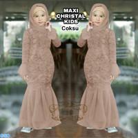 Maxi Christal Kids/Eksport Quality Premium Brukat Baju Anak Perempuan
