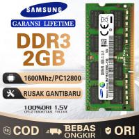 Ram laptop SAMSUNG SODIMM DDR3 2GB 1600MHZ/12800&1333MHZ/10600