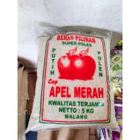 [1 Pack] Beras Putih Cap Apel Merah 5 kg