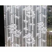Stiker kaca/ pelapis kaca /sandblast / buram / motif bambu HT 012