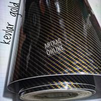 stiker skotlet karbon kevlar gold glossy sticker motor mobil - panjang 25cm
